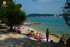 Rovinj Lone Beach beautiful colours blue and green